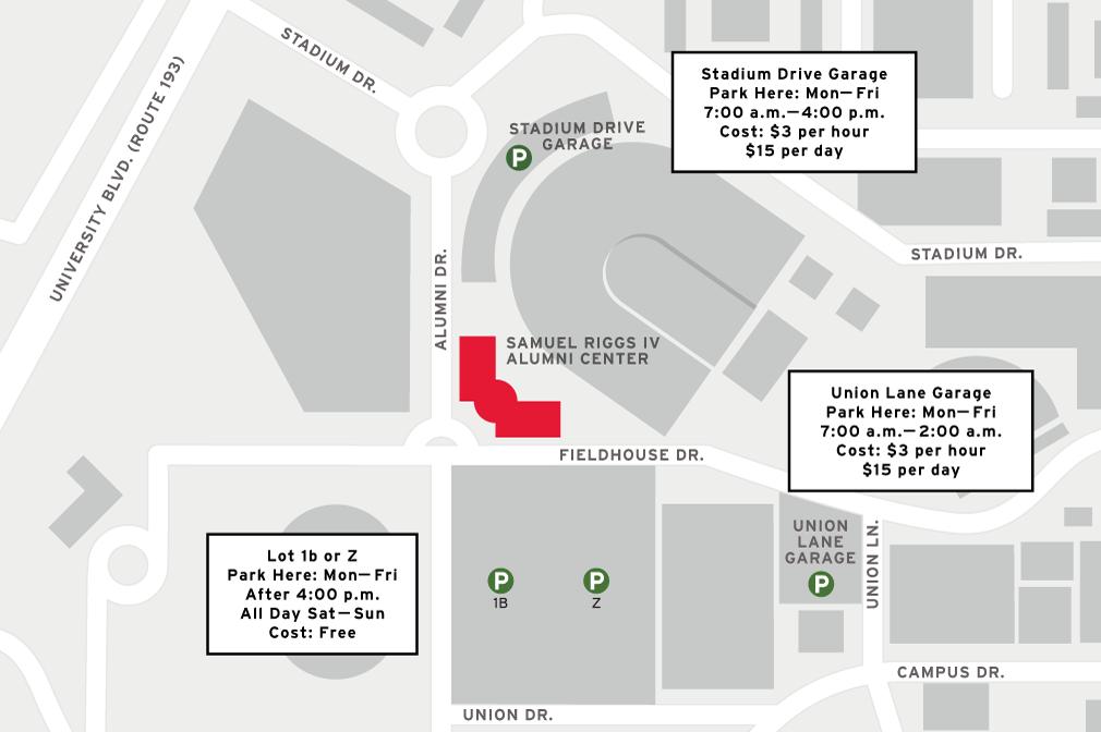 parking riggs alumni center. Black Bedroom Furniture Sets. Home Design Ideas